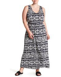 Joe Fresh - Smocked Maxi Dress (plus Size) - Lyst