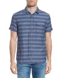 Grayers - Folsom Stripe Short Sleeve Sport Shirt - Lyst