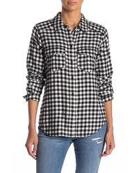 PAIGE Mya Plaid Shirt - Black