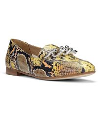 Donald J Pliner Nolin Snake Print Loafer - Yellow
