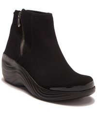 Bzees Zora Platform Wedge Boot - Black