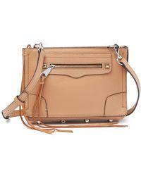 Rebecca Minkoff Regan Leather Crossbody Bag - Brown