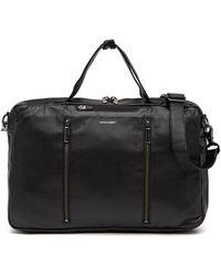Hook + Albert Convertible 3-way Leather Carryall Bag - Black