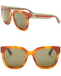02c13fce02 Lyst - Gucci Women s Cat Eye Acetate Sunglasses