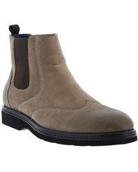 Zanzara Paddington Wingtip Leather Chelsea Boot - Brown