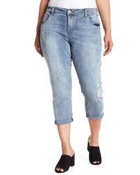 Kut From The Kloth - Bardot Crop Boyfriend Jeans (plus Size) - Lyst