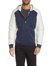 Save The Duck Hooded Leisure Nylon Recycled Jacket - Blue