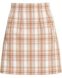 Veronica Beard Roman Plaid Mini Skirt - Multicolor