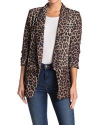 Love Token Elyssa Leopard Print Blazer - Multicolor