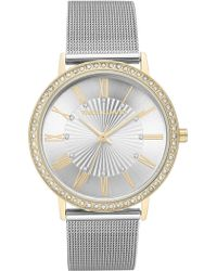 Vince Camuto Women's Two-tone Stainless Steel Mesh Bracelet Watch, 40mm - Metallic
