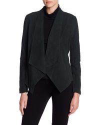 Tahari - Suede Drape Front Jacket - Lyst