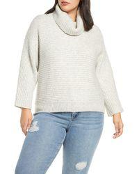 Leith Cowl Neck Dolman Sleeve Sweater - Grey