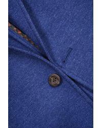 Flynt Blue Two Button Notch Lapel Soft Sport Jacket
