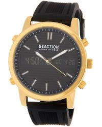 Kenneth Cole Reaction Men's Black Ana-digit Watch, 44mm - Multicolor
