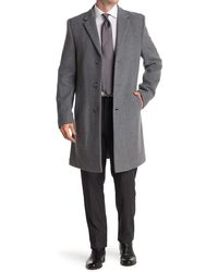 Nautica Barge Tailored Fit Coat - Gray