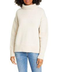 Rag & Bone Lunet T-neck Wool Sweater - Natural