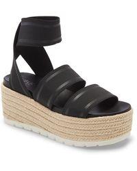 J/Slides Quartz Platform Sandal - Black