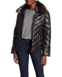 Kenneth Cole - I Love New York Faux Fur Lined Coat - Lyst