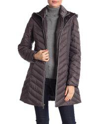 Laundry by Shelli Segal - Velvet Lined Hooded Puffer Jacket - Lyst
