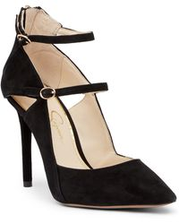 Jessica Simpson - Liviana Pointed Toe Suede Pump - Lyst