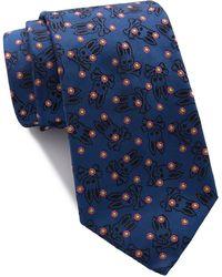 Psycho Bunny Silk Dot Neat Tie - Blue