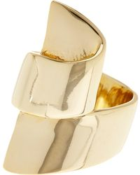 Ariella Collection - Ribbon Metal Ring - Size 7 - Lyst