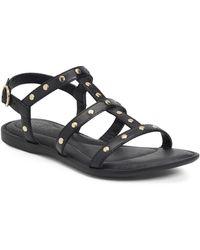 Born Adriana Studded Strappy Sandal - Black
