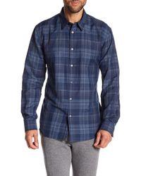John Varvatos - Long Sleeve Classic Fit Print Woven Shirt - Lyst