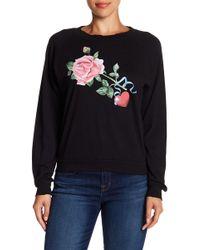Wildfox Memento Graphic Junior Sweatshirt - Black