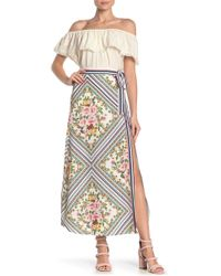 Jealous Tomato Floral Side Slit Maxi Skirt - White