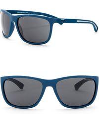 Emporio Armani - 62mm Wrap Acetate Frame Sunglasses - Lyst