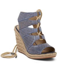 Johnston & Murphy - Mandy Perforated Wedge Sandal - Lyst