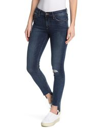Lucky Brand Ava Mid Rise Skinny Jeans - Blue