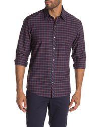 Zachary Prell Dane Long Sleeve Plaid Print Shirt - Red