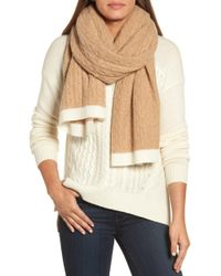 Halogen - Cable Knit Cashmere Scarf - Lyst