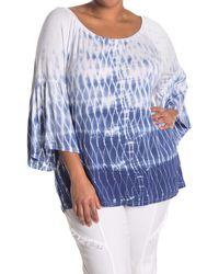 XCVI Ronan Bell Sleeve Top - Blue