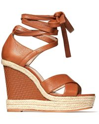 PAIGE - Talia Wedge Ankle Wrap Sandal - Lyst