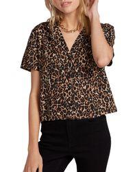 Volcom Gen Wow Leopard Print Shirt - Black