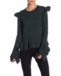 1fabccf4e180e2 Michael Kors Leopard-print Angora-blend Sweater - Lyst