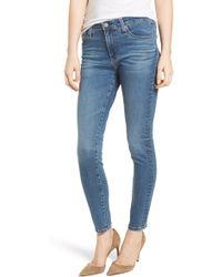 AG Jeans The Farrah High Waist Ankle Skinny Jeans - Blue