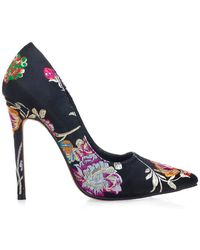 Privileged - Jada Point Toe Floral Print Pump - Lyst