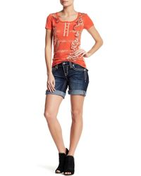 Miss Me - Mid Thigh Short - Lyst