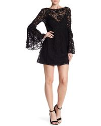 Jay Godfrey - Gamble Lace Bell Sleeve Mini Dress - Lyst