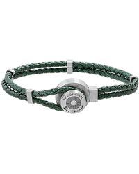 Ben Sherman - Braided Faux Leather Bracelet - Lyst