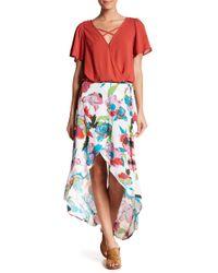 Love, Fire - Floral Wrap Maxi Skirt - Lyst