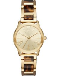MICHAEL Michael Kors - Women's Hartman Tortoise Bracelet Watch, 38mm - Lyst