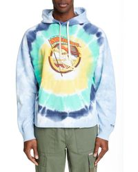 Ovadia And Sons Men's X Stanley Mouse Skeleton-graphic Tie-dye Hoodie - Multicolor