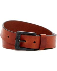 True Religion | 35mm Logo Bridle Leather Belt | Lyst