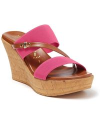 Italian Shoemakers Topanga Wedge Heel Sandal - Pink