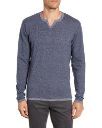 Robert Barakett Schofield Long Sleeve Notch Neck T-shirt - Blue